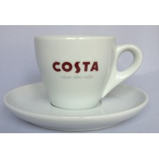 Costa Coffee Double Espresso Dopio Cup With Handle & Saucer
