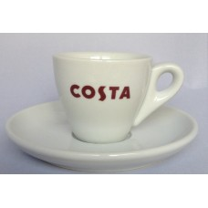 Costa Coffee Single Espresso Cup With Handle & Saucer