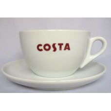 Costa Coffee Medium Medio Cup With Handle & Saucer