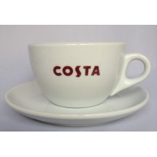 Costa Coffee Small Primo Cup With Handle & Saucer
